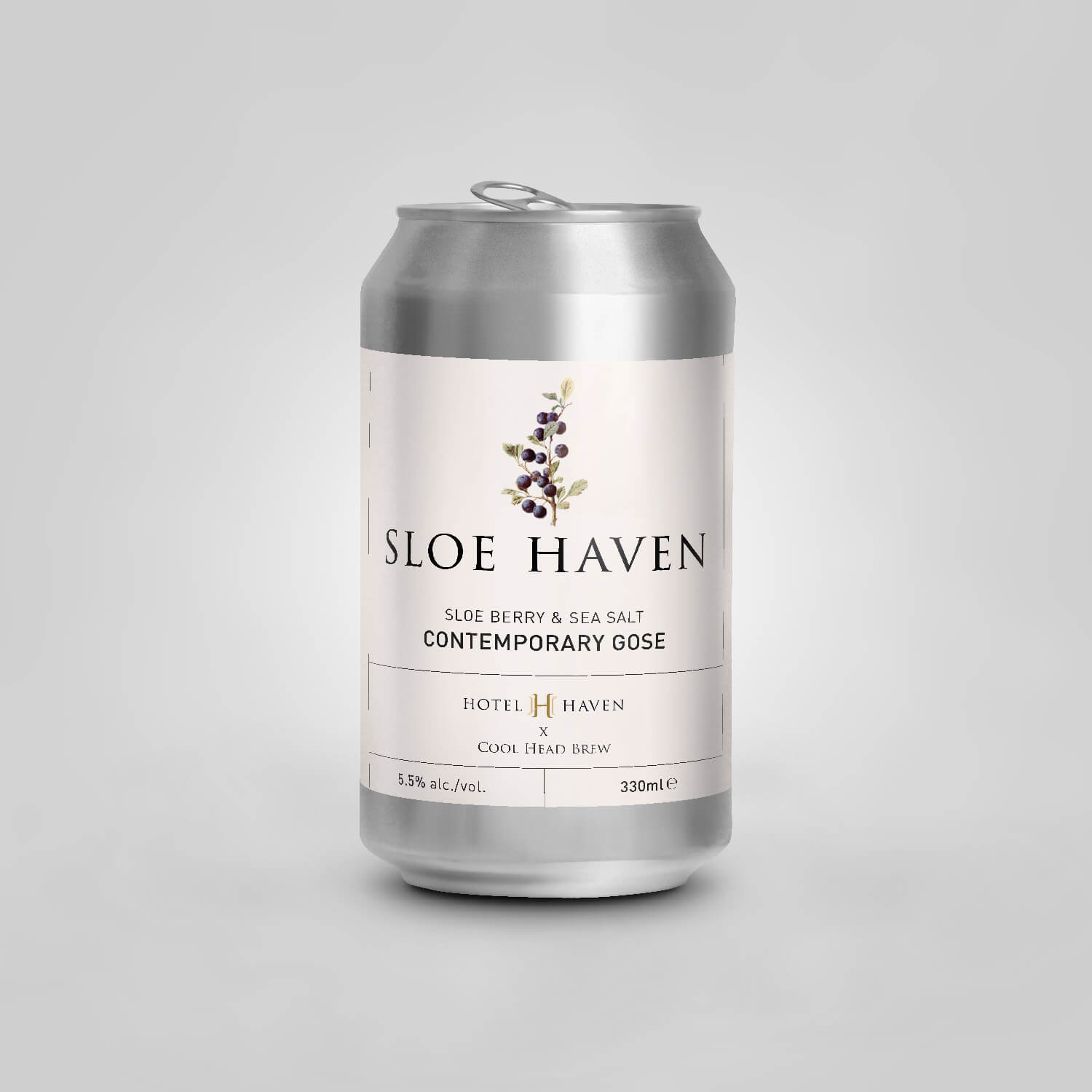 Sloe Haven beer label