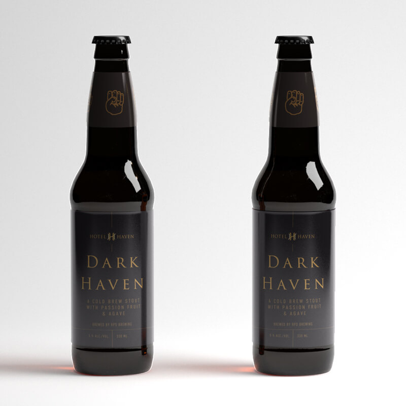 Dark Haven beer label